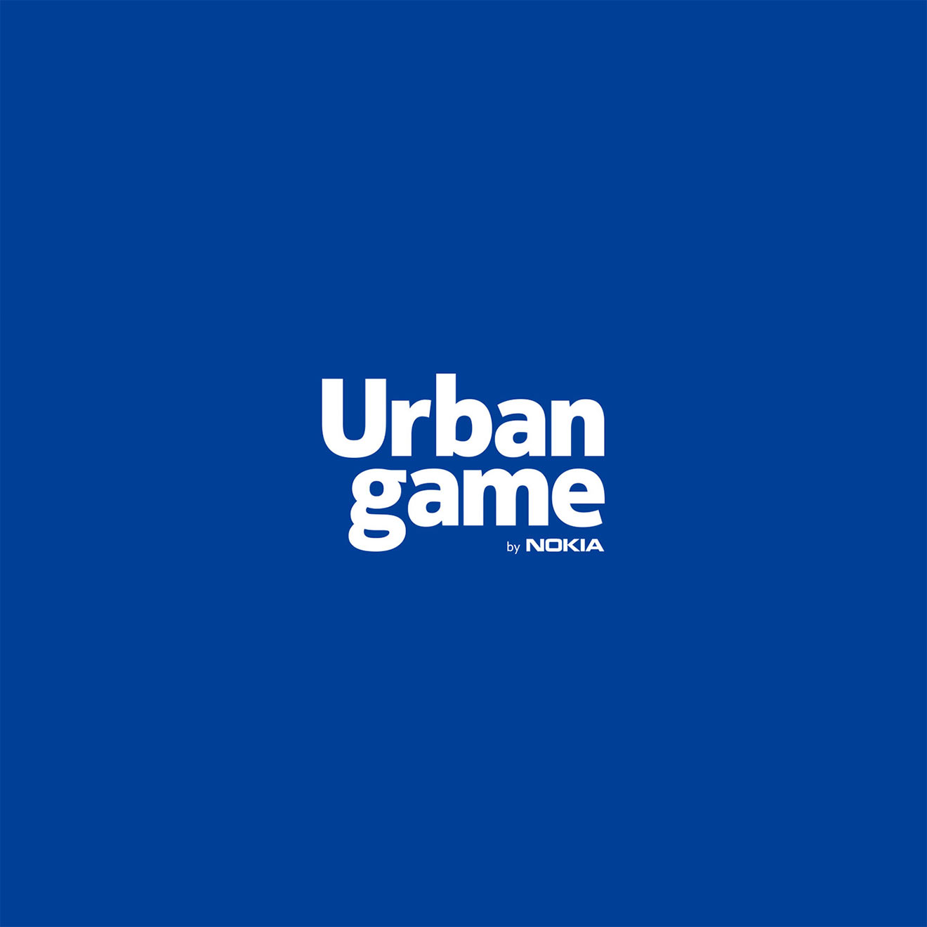 Urban Game by Nokia - Logo on a Blue Background